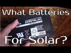What batteries for Solar